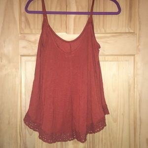 Urban Outfitters Ecote Flowy Tank Top Crochet Trim